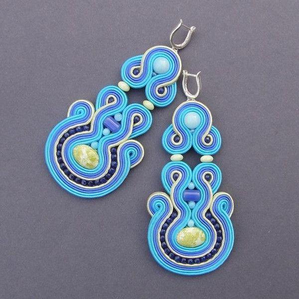 """""""Limone"""" - kolczyki sutasz z jaspisem i amazonitem w Blue Butterfly na DaWanda.com"""