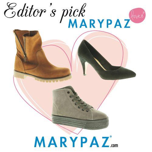 MARYPAZ loves    #editorspick #personalshopper #algoestapasandoenMARYPAZ #OI14   Aprovéchate de los ENVÍOS a 0 € al realizar tu pedido ONLINE durante todo el mes de diciembre !  Shop at ► http://www.marypaz.com/tienda-online/salon-de-tacon-y-punta-fina-32189.html?sku=70016-42  Shop at ► http://www.marypaz.com/tienda-online/catalog/product/view/id/24539/s/botin-crippers-con-cordones/category/201/?sku=69678-42