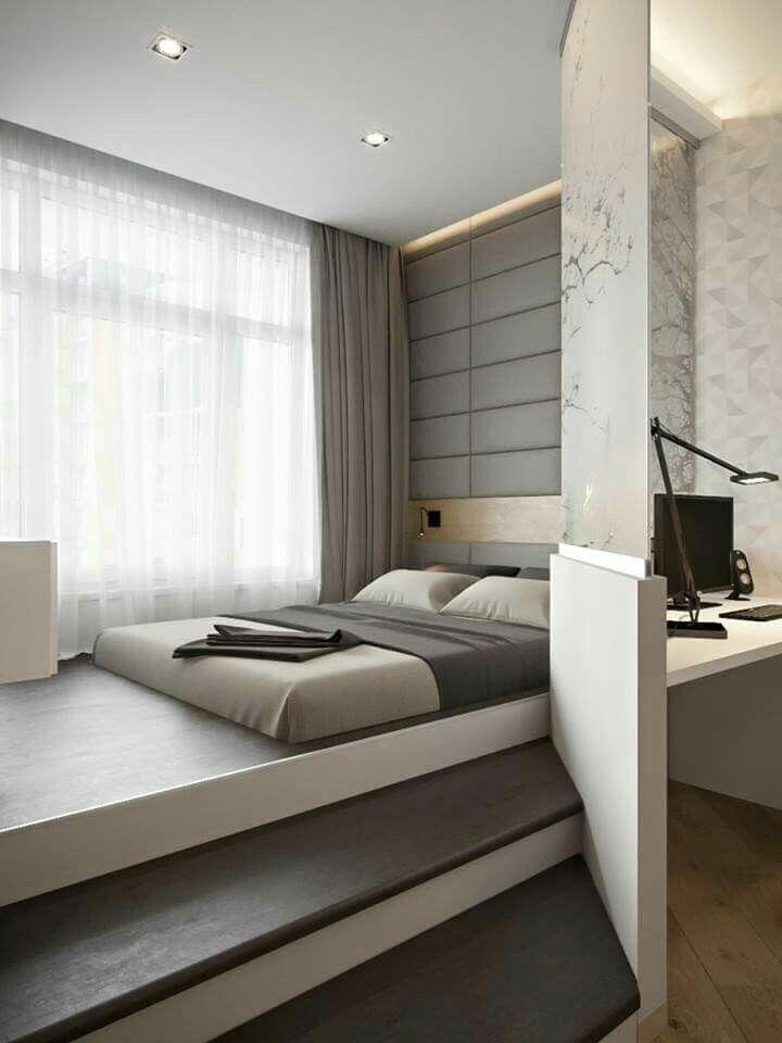 Grey & white bedroom