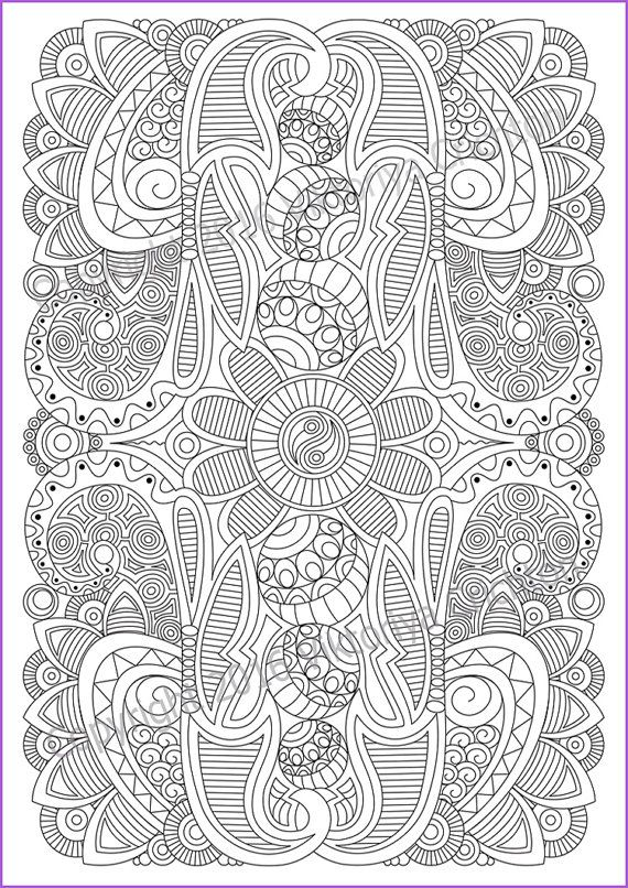 Coloring page adult and children , PDF zentangle pattern, printable art tangle inspired  Print A4 paper, paint the well-sharpened colored pencils or colored pens zentangle as you like. Paint markers is not recommended. Instantly downloadable file to your device allowing you to print at home or at your local printing shop in any size. When you purchase you get: 1 image - A4 297 x 210 mm. All digital designs are high quality 300 DPI resolution images in JPEG format. Print sizing chart: A4 297…