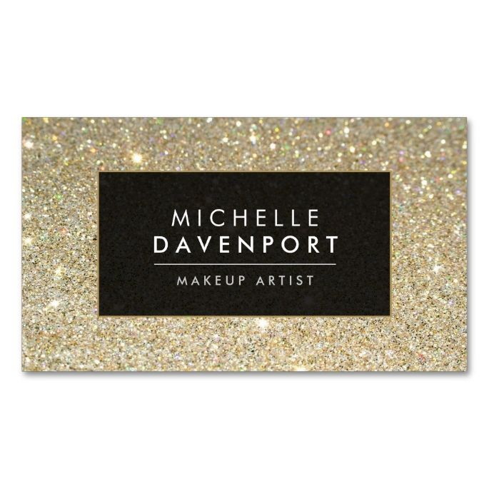 2061 best makeup artist business cards images on pinterest card classic gold glitter makeup artist business card pack of standard business cards make your own business card with this great design reheart Choice Image