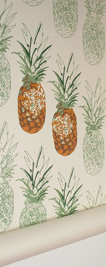 Paint-by-number wallpaper (to accompany the paint-by-number rug from Anthropologie)