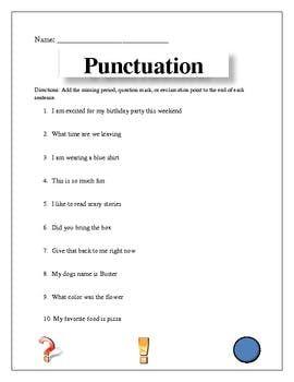 punctuation worksheet punctuation worksheets. Black Bedroom Furniture Sets. Home Design Ideas