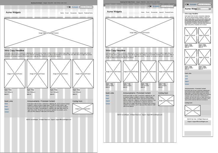 wireframes, rwd, responsive web design, responsive design