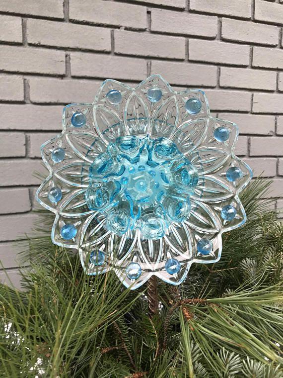Repurposed Glass Flower/Suncatcher/Wall Decor/Garden Art by Tambrey the Repurposer