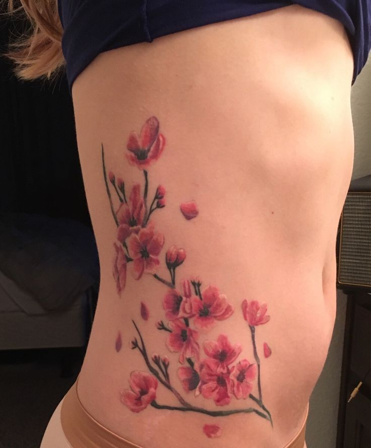 Japanese Cherry Blossoms Roque From Gold Dust Tattoos In Dallas Tx First Tattoo Ever