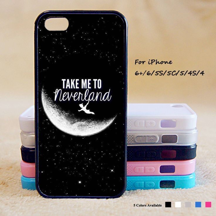 Take to me neverland Peter Pan Phone Case For iPhone 6 Plus For iPhone 6 For iPhone 5/5S For iPhone 4/4S For iPhone 5C-5 Colors Available