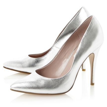 ATTAR - Pointed Metallic Silver Court Shoe by Dune London #dunelondon #metallic #court #shoes #heels #silver #shine #aw13 #style #fashion
