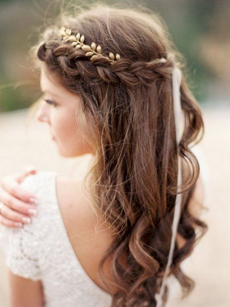 23 Wonderful Long Wedding Hairstyles with Creative Headband Design