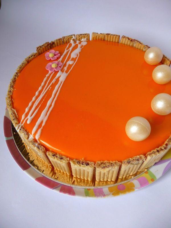 Entremet abricot - vanille