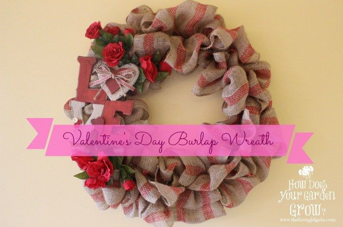Learn easy steps from blogger Melissa Russo on how to make this pretty Valentine's Day Burlap Wreath.