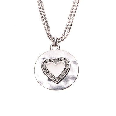 Hultquist Classic Pure at Heart Silver Necklace with Black Diamond Swarovski Crystals|lizzielane.co.uk. http://www.lizzielane.co.uk/shop/hultquist-classic-pure-at-heart-silver-necklace-with-black-diamond-swarovski-crystals £25