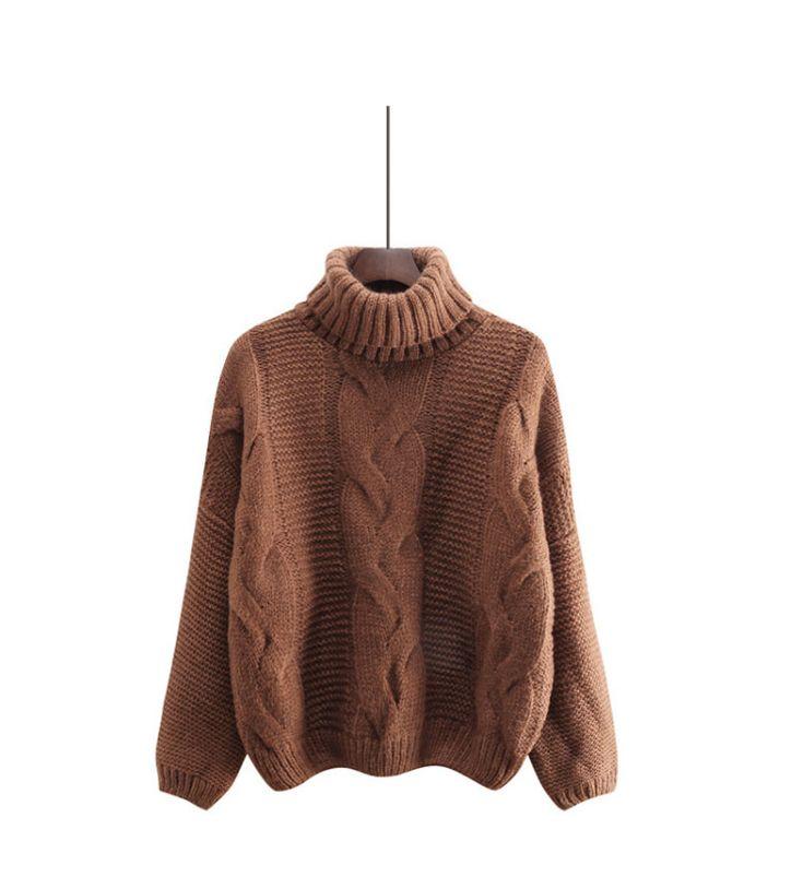 タートルネック ニット レディース セーター ケーブルニット かぎ編み ざっくり トップス おしゃれ 可愛い