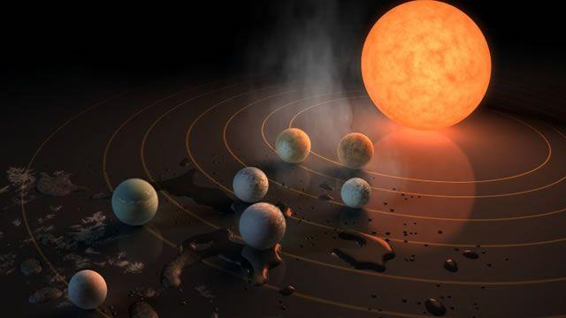 Los científicos hallaron, alrededor de una pequeña estrella, un fascinante sistema de siete planetas del tamaño de la Tierra, que representa el terreno más prometedor hasta la fecha para analizar s…