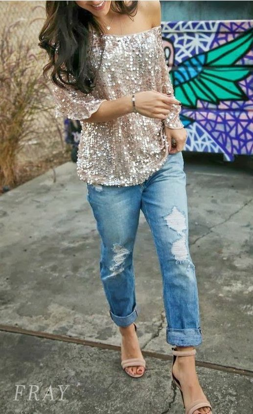Our best-selling Milanese Sequin Top