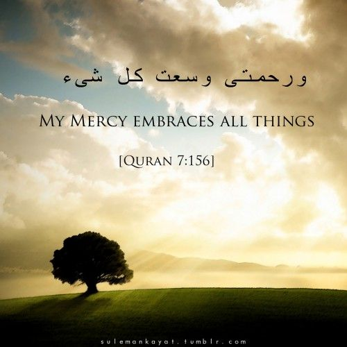 Surat al-A`raf 7:156 Originally found on:... • Islamic Art and Quotes