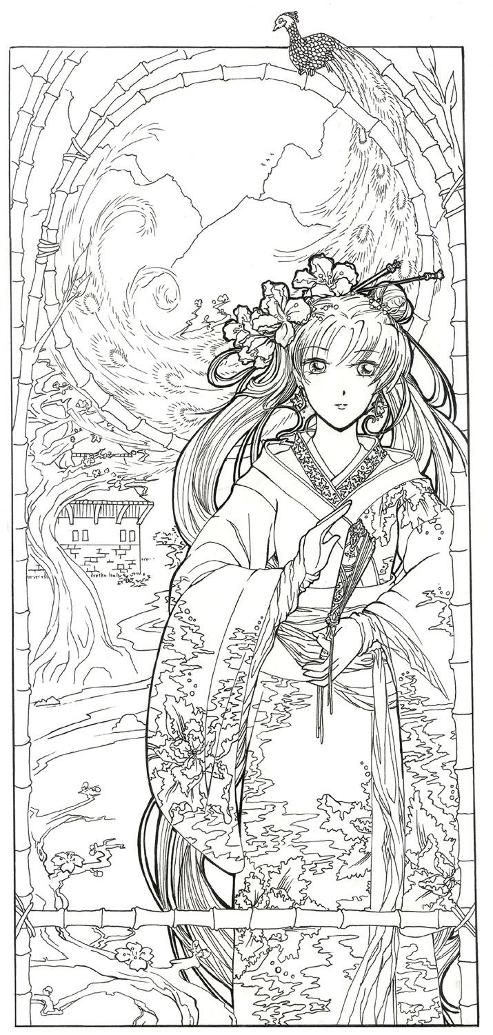 177 best japanese coloring pages images on pinterest drawings