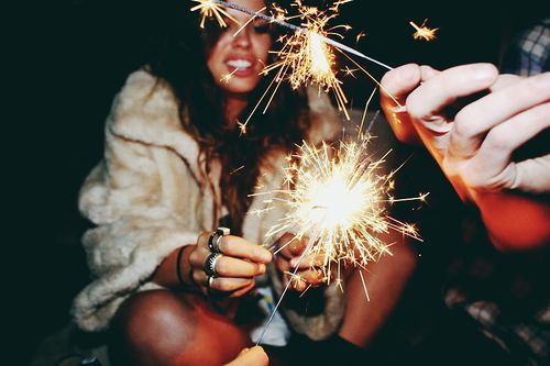 Sparklers are the perfect way to ring in the New Year!
