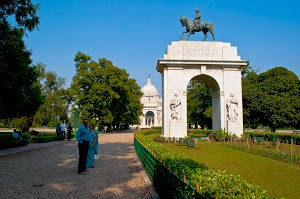 Victoria Memorial in Kolkata, India by Prabir Sen - Victoria Memorial Hall was built in the memory of Queen Victoria of England. The building was conceptualised by Lord Curzon who was then Viceroy of India. This marble architecture was designed by Sir William Emerson. The design of the structure represents a fusion of British and Mughal architecture and was inaugurated in the year 1921. Click on the image to enlarge.