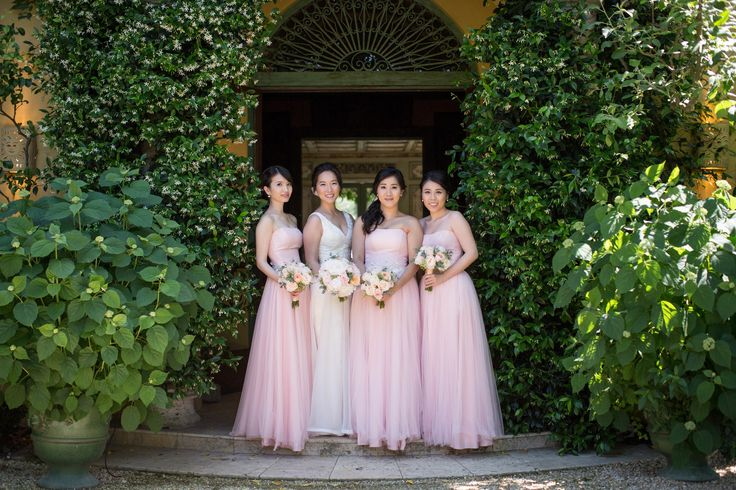 Romantic Alfresco Vows at the Hills Estate | Napa & Sonoma | Arrowood Photography | pale pink bridesmaids dresses