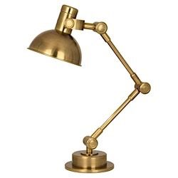 rico espinet scout table lamp in antique brass design by robert abbey