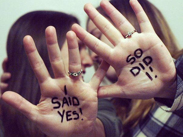 18 Fun Engagement Announcements That Call For A 'Hell Yes!'