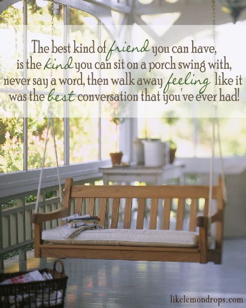 True Friends: Front Porches Swings, Idea, Dreams Houses, Screens Porches, Benches, Patio, Places, Covers Porches, Sunroom