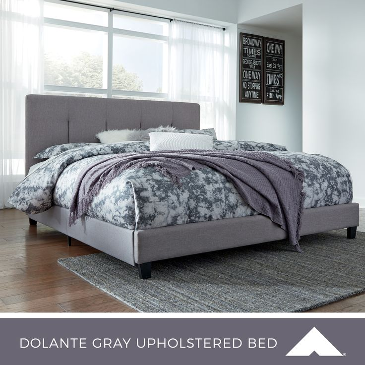 Best Dolante Gray Upholstered Bed By Ashley Furniture Masterbedroom Bedroomdecorideas 400 x 300