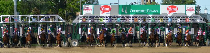 Start of the 2014 Kentucky Derby won by  California Chrome  Courtney V. Bearse Photo