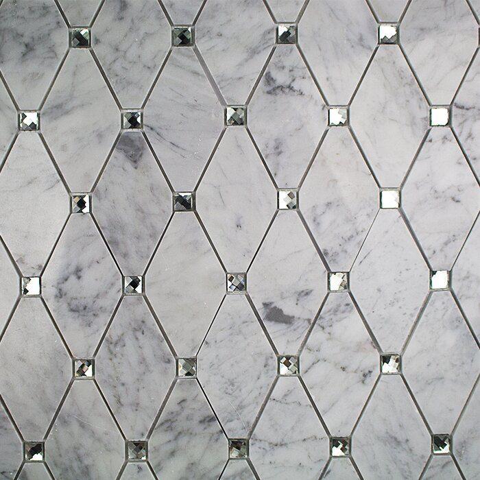 Mirage Lozenge 3 X 5 Glass Octagon And Dot Mosaic Wall Floor Tile Marble Glass Tile Diamond Tile Glass Mosaic Tiles