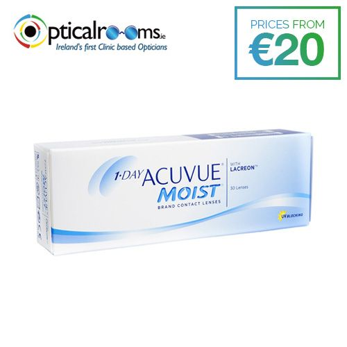 #1-Day Acuvue Moist  A Fresh Start Every Day - Our daily disposable lens offers a fresh, new-lens feeling every day.Exceptional Comfort - LACREON® Technology provides a long-lasting cushion of moisture for comfort that lasts from morning until night.UV Protection - ACUVUE® Brand Contact Lenses are the only major brand that blocks at least 97% UVB and 81% UVA as a standard across all its contact lenses.