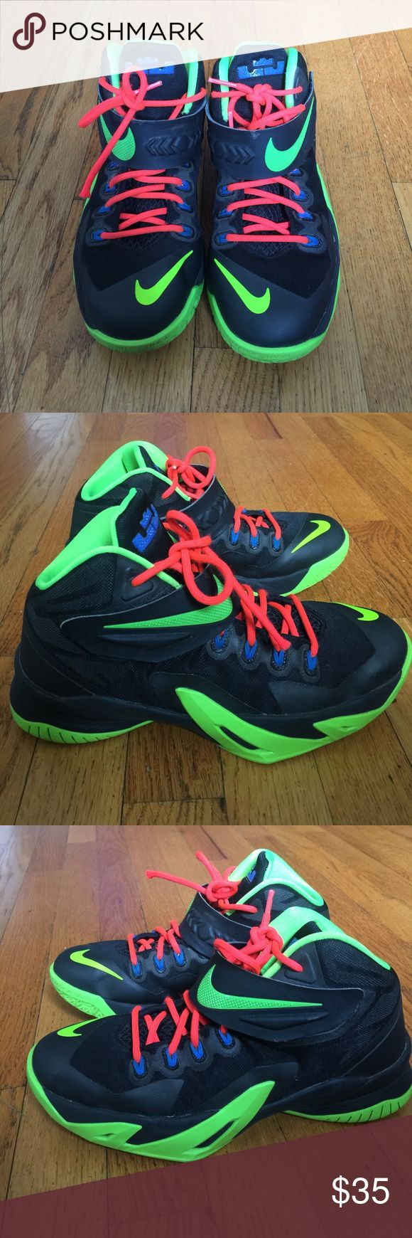 Nike Lebrons is EUC basketball shoe. A very nice multi color youth basketball in EUC. Nike Shoes Sneakers