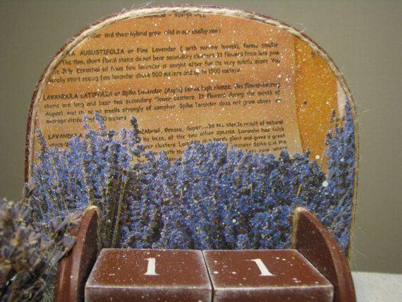 Provence wooden perpetual calendar, Ewiger Kalender, lavender, Provence style