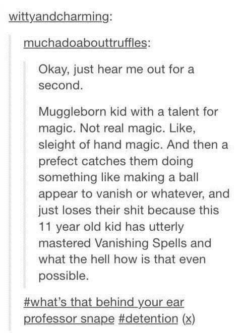 Muggleborns Knowing Muggle Magic Tricks