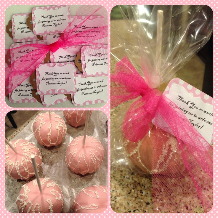 Pink Candy Apples For A Princess Baby Shower