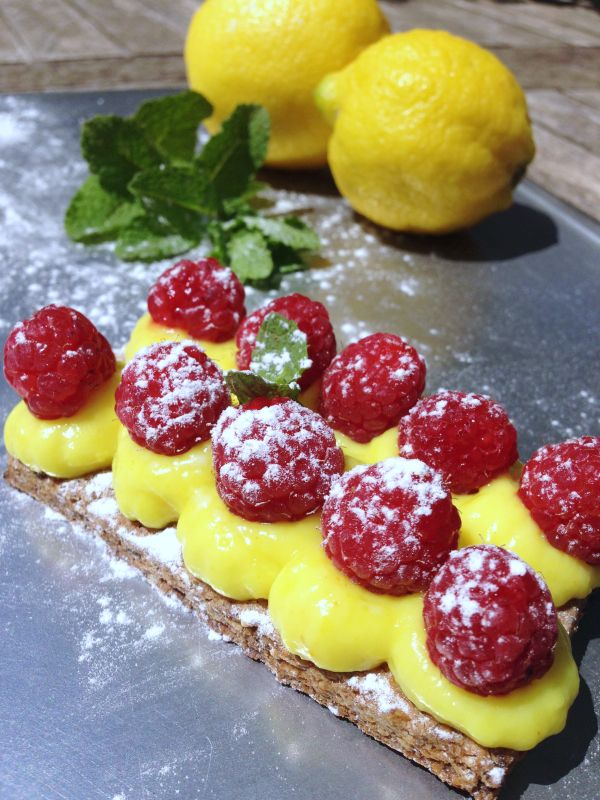 Tartelette framboises citron noisette sans gluten&sans lactose