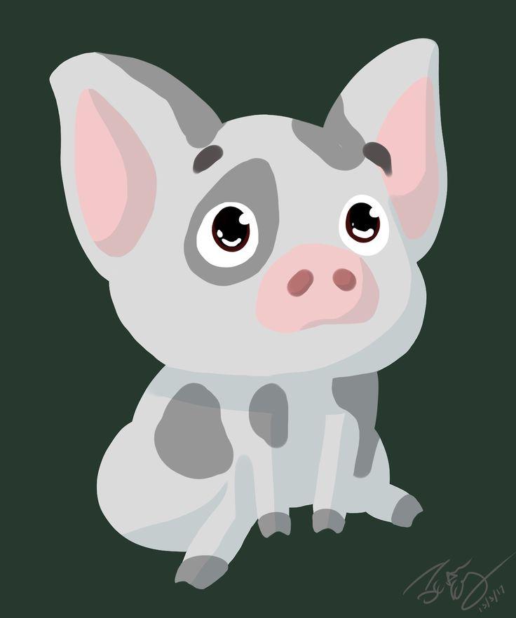 More Moana! Here's the super cute Pua the pig!