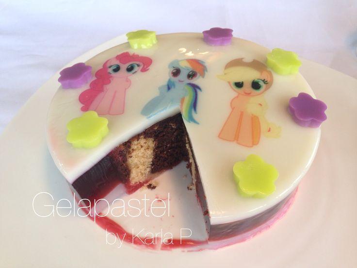 Jello cake gelapastel