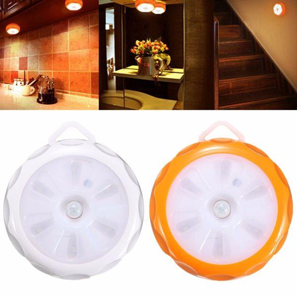 Automatic 6 LED PIR Motion Light Sensor Cabinet Night Lamp Battery Powered