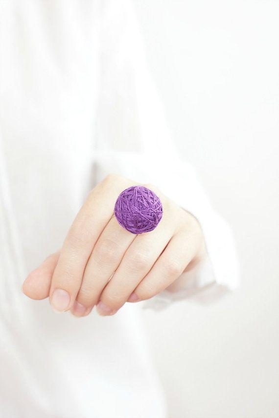 Purple fabric ring cotton textile natural geometrical by BallClub