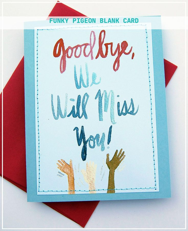 12 best funky pigeon blank card  farewell cards goodbye