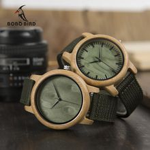 BOBO BIRD WD11D12 Wood Bamboo Watch for Mens Womens Brand Designer Watches Soft Nylon Band Carton Gift Box Relogio masculino(China (Mainland))