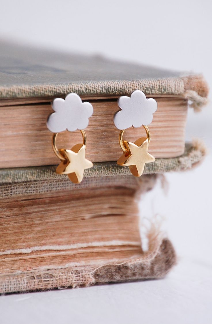 Every CLOUD has a SILVER Lining EARRINGS Gold