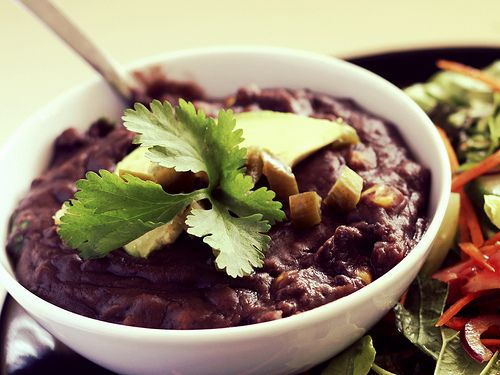 Frijoles Negros Refritos - the best refried black beans ever. Recipe by @Rachel Demuth.