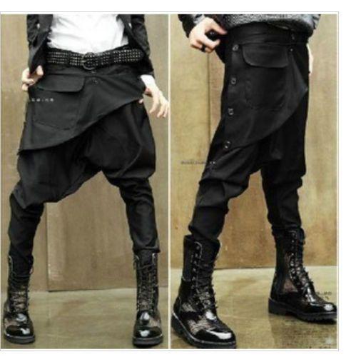 Fashion-Korean-personality-harem-pants-hairstylist-low-crotch-pants-feet-pants