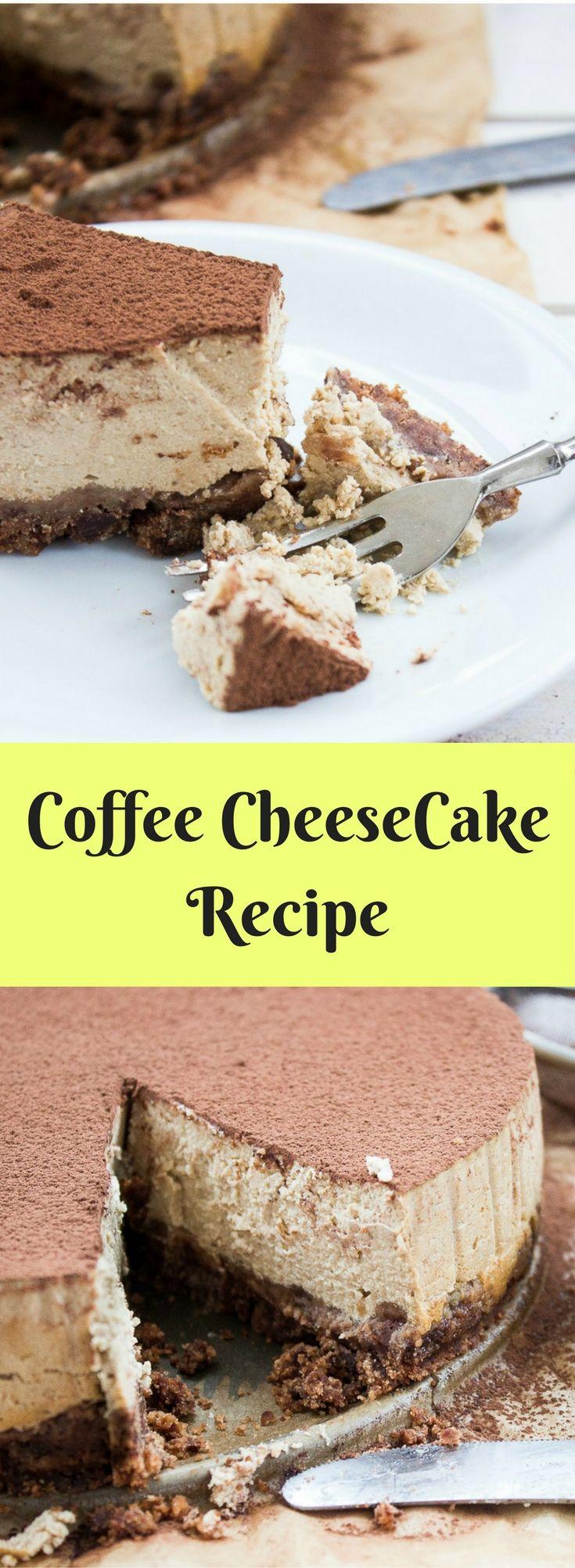 Coffee CheeseCake Recipe / Sernik kawowy na czekoladowym spodzie #cheesecake #recipe #coffee #glutenfree