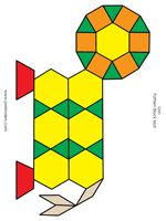 Black and White Copies of Pattern Blocks...I have all copies printed and am using these at Jackson with Kindergarten kids