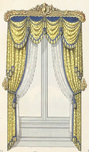is the racoco style from the victoian  ara | 190-Rococo Revival window treatment