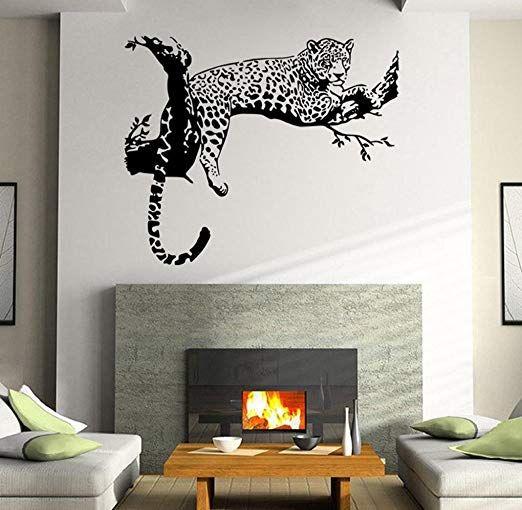 Tonsee Wandsticker Leopard Wohnzimmer Schlafzimmer ...