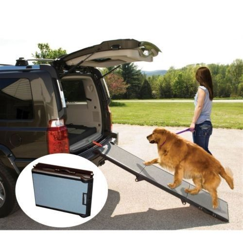 Pet Gear Tri Fold Dog Cat Ramp Capacity Up To 200 Lbs PG9955CH